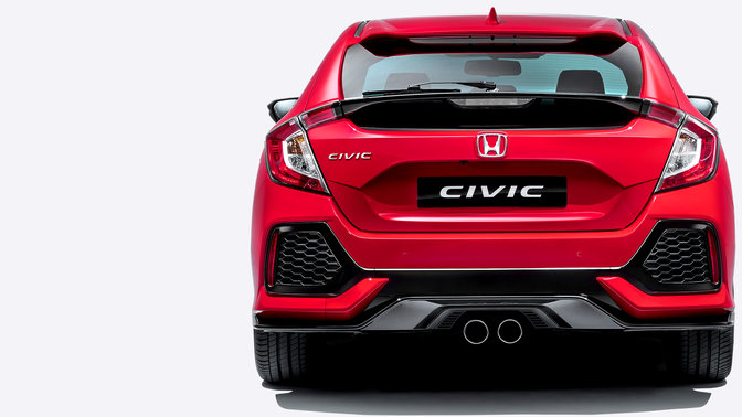 Honda Civic, set bagfra.