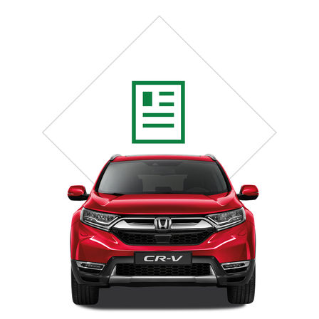Honda CR-V illustration til brochure.
